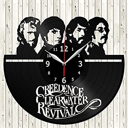 Creedence Clearwater Revival CCR 60s Vnyl Record Wall Clock Decor Handmade Unique Original Gift