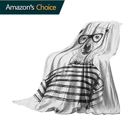 Custom&blanket Manta de Franela con diseño de Animales, para bebé ...