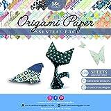 Set carta da origami - 120 fogli - tradizionale piegatura della carta giapponese - la carta include stampe a fiori, animali, azteche, geometriche - crea fiori, gru, gufi, draghi, animali - carta da origami per bambini ed adulti