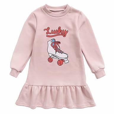Sanlutoz Robes De Fille D Hiver à Motifs Vêtements Pour
