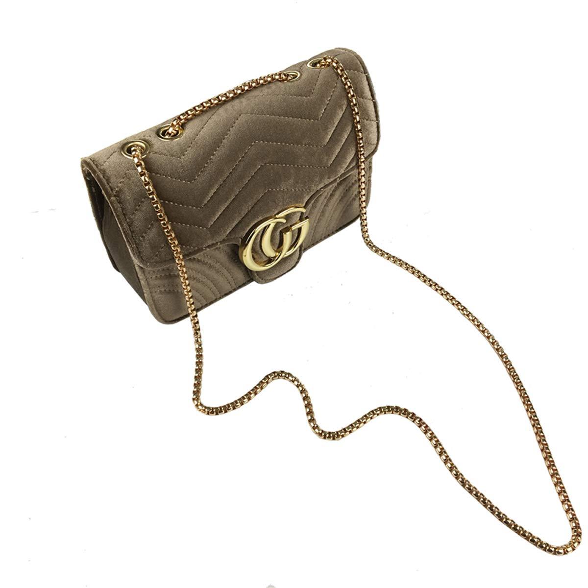 e9a5ee2e8ff5 SHRJJ 2018 Girls Fashion CG Lock Velvet High Quality Leather Shoulder Bag  Crossbody Bag Wave Pattern Vintage e Small Bag Large Space Baby Diaper Bag  for ...