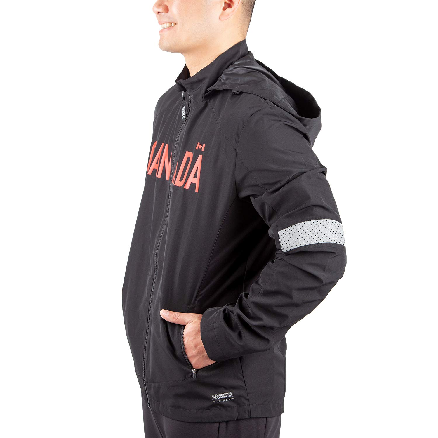 Running Room Men's Canada Run Jacket RUNNING ROOM CANADA FIT WEAR