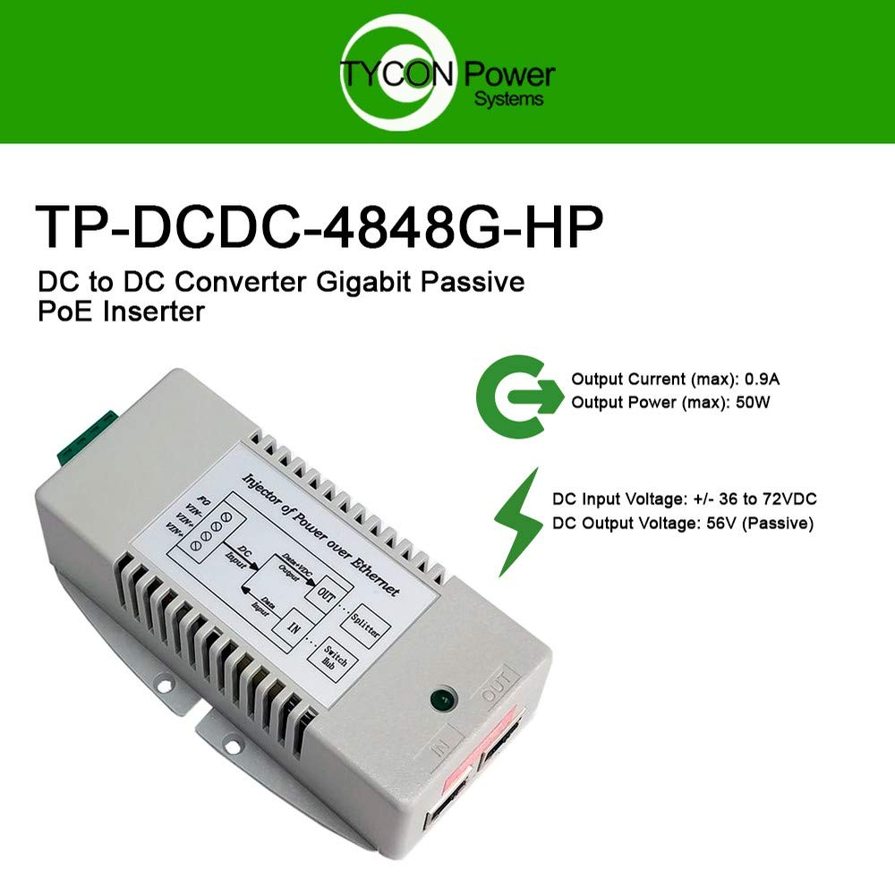 Tycon Systems PS48V-2.5 120W Power Supply with 4 Pin Mini Din Connector 48V44; 2.5A