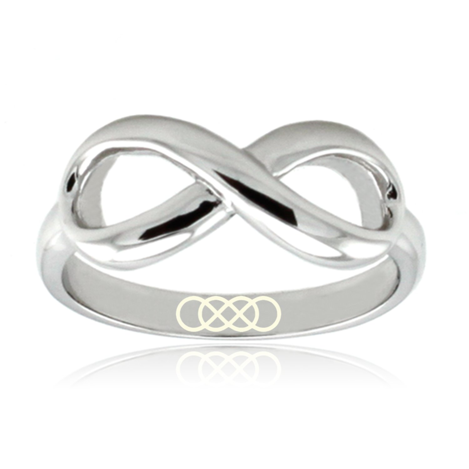 Amazon Sterling Silver Double Infinity Icon Engraved Infinity