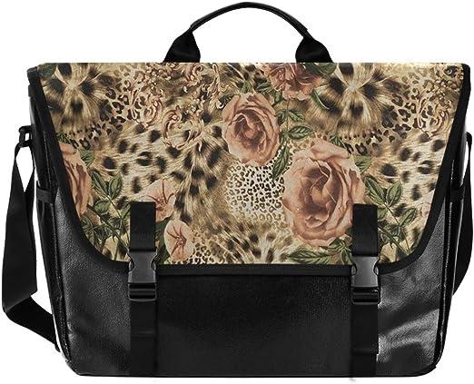 Animal Leopard on a Mountain Cross Body Shoulder Messenger Laptop Bag