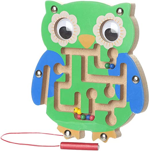 Children Magnetic Maze Toys Wooden Game Toy Wooden Intellectual Jigsaw Board Toy
