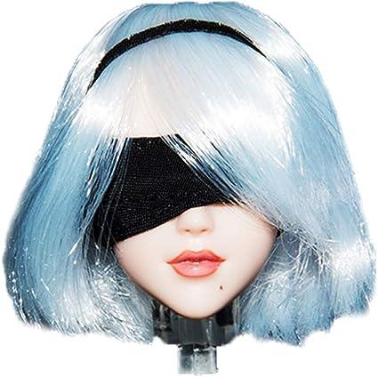 "YMtoys Asian Female Short Hair  1:6 Head Sculpt Model Fit 12/"" Female Figure"