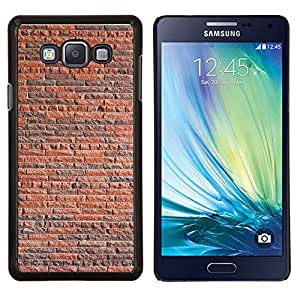 "Be-Star Único Patrón Plástico Duro Fundas Cover Cubre Hard Case Cover Para Samsung Galaxy A7 / SM-A700 ( Pared de ladrillo rústico Naranja Marrón Arquitectura"" )"