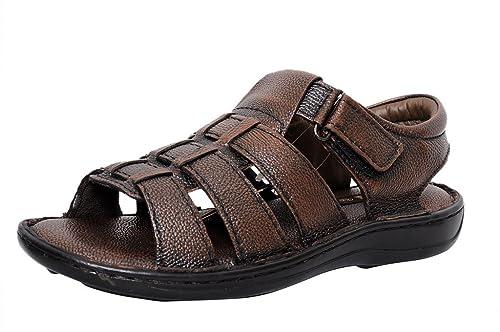 4bc827bd3 Zoom Mens Sandal Online Genuine Leather Sandals for Men D-1171-Brown Sandal-