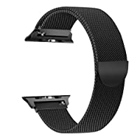 VODKER For Apple Watch Strap 38mm/42mm Band, Stainless Steel Mesh Milanese Loop Replacement Straps bands for iWatch Apple Watch Series 3 Series 2 Series 1