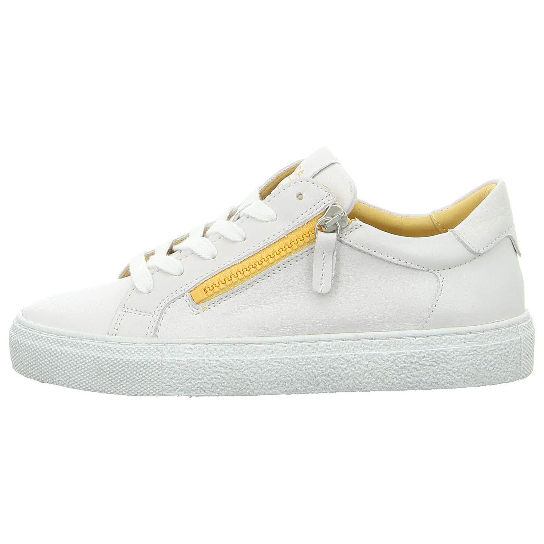 Maca Kitzbühel Damen Turnschuhe 2429 Weiß Gelb weiß 620878