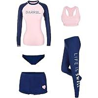 5pcs Women's Swimsuit Set Elasticity Durable Bathing Suits Beachwear
