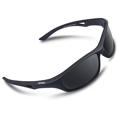 41691594fc8 RIVBOS Polarized Sports Sunglasses Driving Comfortable Sun Glasses Shades  for Men Women Tr 90 Flexible Frame