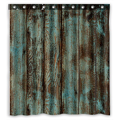 Welcome!Waterproof Decorative Rustic Old Barn Wood Art Shower Curtain 66