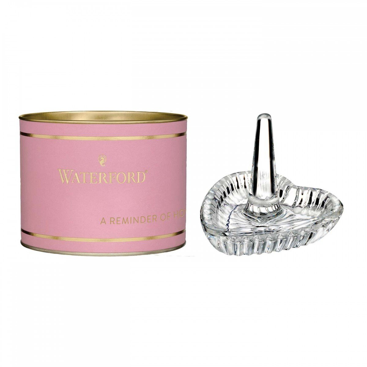 pink Tube Waterford Heart Ring Holder 40009424