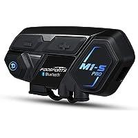 FM Intercomunicador Casco Moto M/úsica Compartida Manos Libres para Moto para 8 Motoristas 1000M Sistemas de Comunicaci/ón para Casco M1S Plus Intercomunicador Moto Bluetooth con Cancelaci/ón de Ruido