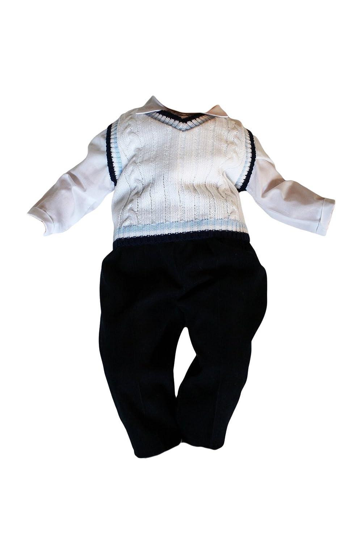 Taufanzug Baby Junge Kinder Hochzeit Anzüge Festanzug, 3tlg, K1