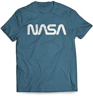 Worm Logo Chest Insignia USA US Flag Graphic Maglietta NASA Shirt