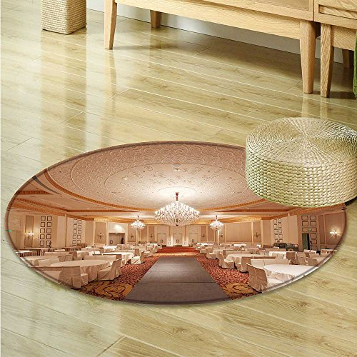 Print Area rug A bright hotel restaurant Perfect for any Room, Floor Carpet -Round 63'' by SeptSonne