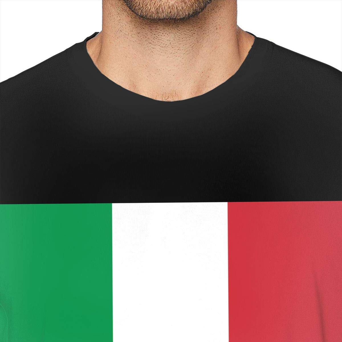 Flag of Italy Novelty T-Shirt Adult Comfortable Short-Sleeve T-Shirts Tee Shirts Size:S-6XL