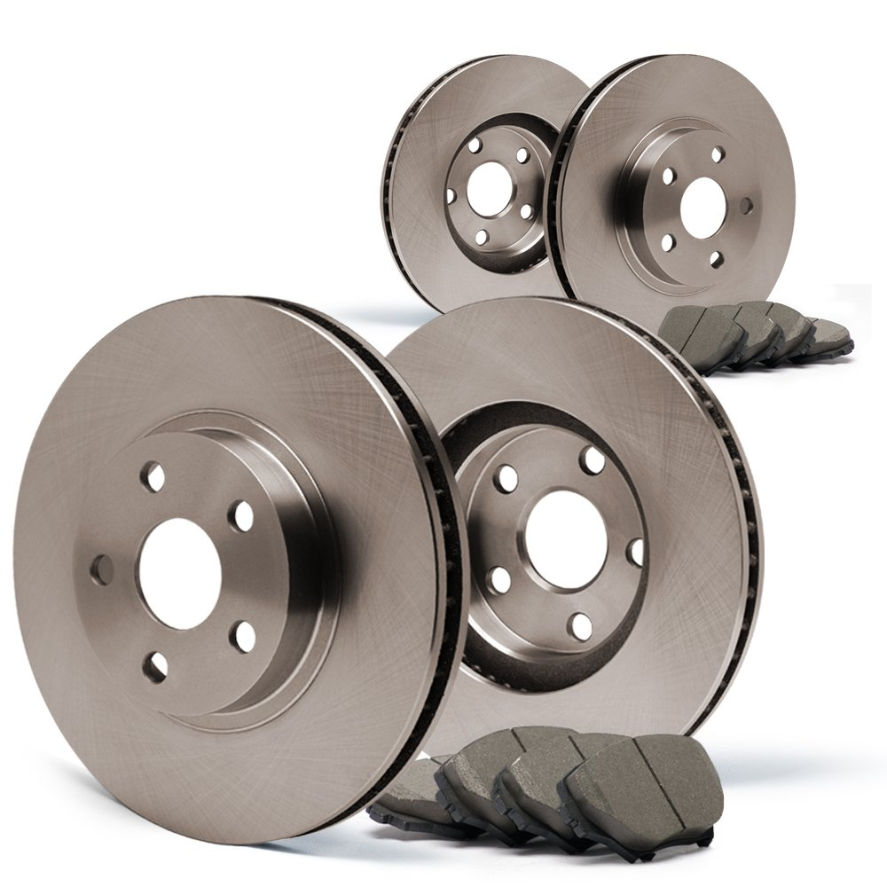 (Front) + (Rear) OE Series Rotors w/Ceramic Pads Premium Brake Kit CP053643 | Fits: 2012 12 Dodge Grand Caravan w/302mm (Front) Rotor and Single Piston (Front) Calipers To 3/23/2012