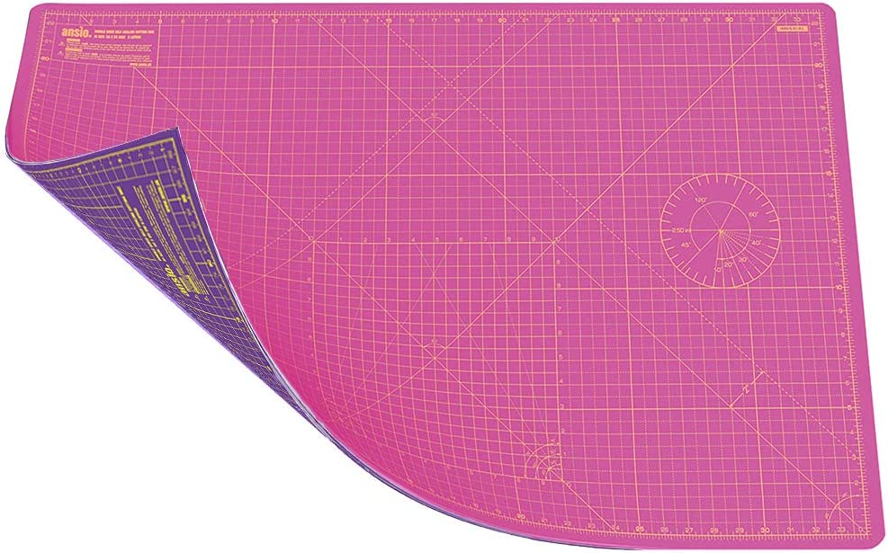 Super Pink//Royal Purple ANSIO A1 Double Sided Self Healing 5 Layers Cutting Mat Imperial//Metric 36 Inch x 24 Inch 90cm x 60cm