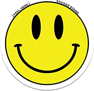 "Smiley Face car Bumper Sticker Decal 4"" x 4"""