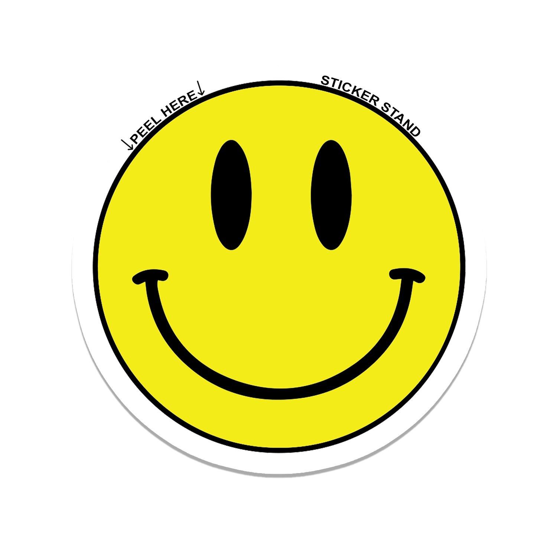 Amazon com smiley face car bumper sticker decal 4 x 4 automotive