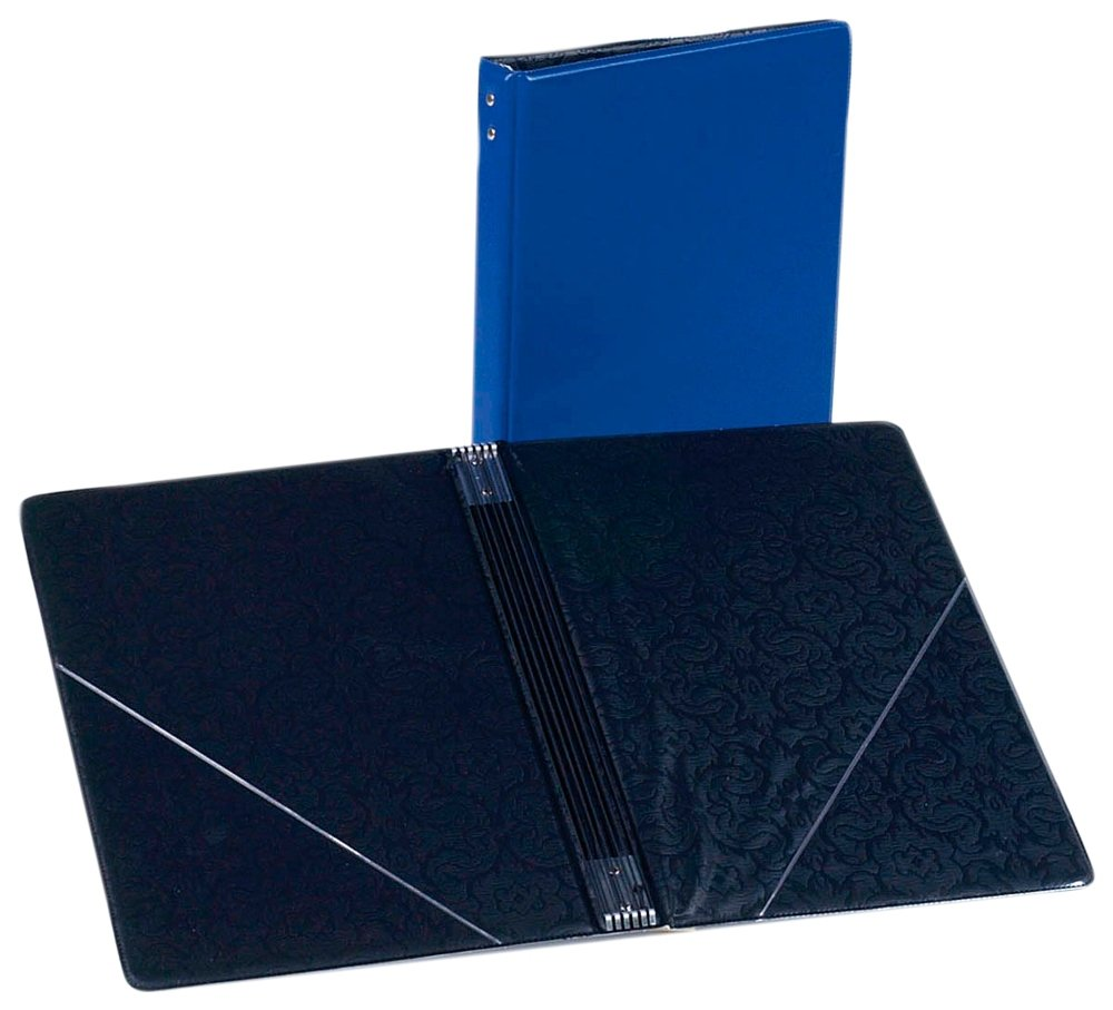 Marlo Plastics Choral Folder 7-3/4 x 11 With 7 Elastic Stays and 2 Clear, Flat, Diagonal Internal Pockets Blue