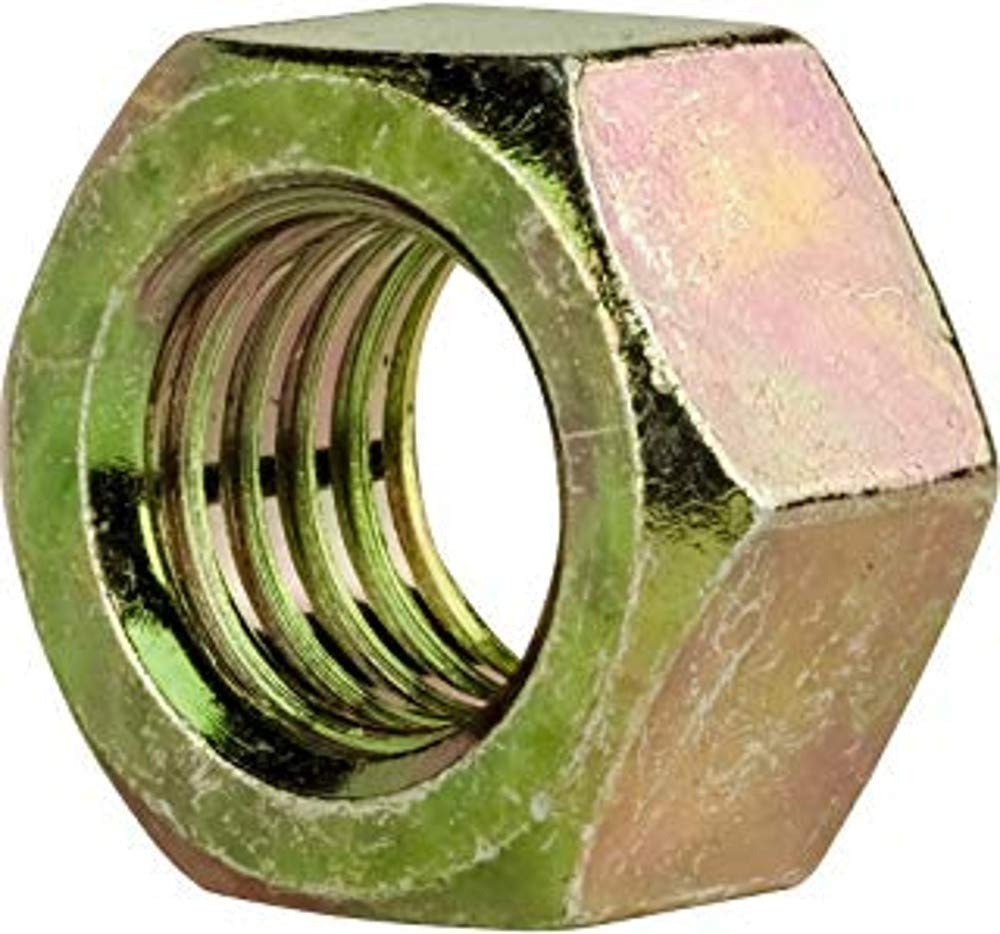 Grade 8 Zinc Yellow-Chromate Plated High-Strength Steel Hex Nut 1-1//8-12 Thread Size