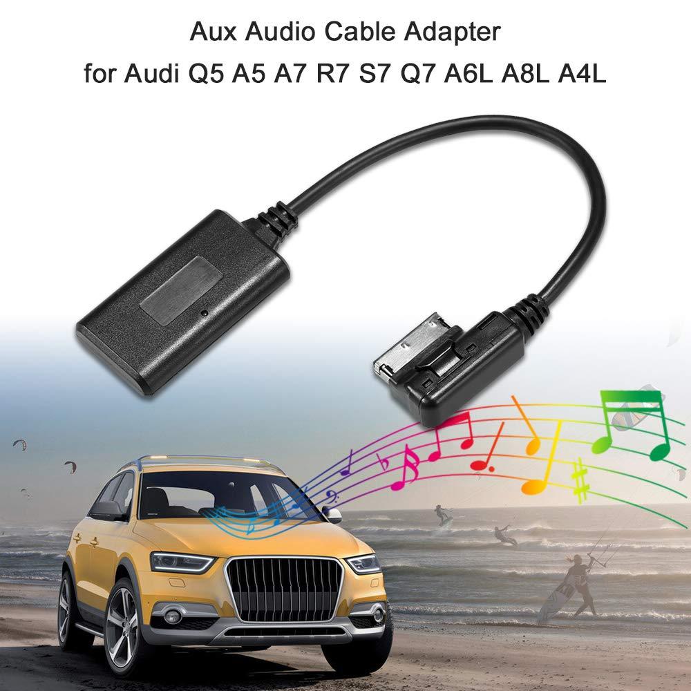 KKmoon AUX Kabel Audio Kabel Adapter Eingang Radio BT f/ür Audi Q5 A5 A7 R7 S7 Q7 A6L A8L A4L