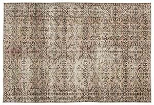 Nakkas Antique Handwoven Kilim Vintage Area Rug Naturel 6'1'' X 8'10''