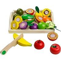 jerryvon Frutas y Verduras Juguete para Cortar Frutas
