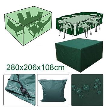 Vinteky®Funda Resistente para Muebles de Jardín Funda Impermeable para Mesa de Jardín Cubierta Protectora