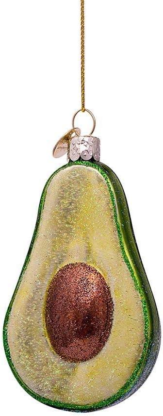 Christbaumanhänger AvocadoWeihnachtsbaumschmuck Glas Glitzer Anhänger