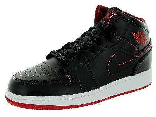 Nike Air Jordan 1 Mid BG, Chaussures de Sport garçon ...