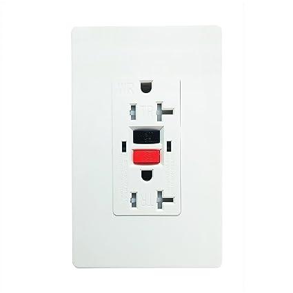 GFCI 20 Amp 125 Voft TR Wall Outlet. SECKATECH Tamper-Resistant ...