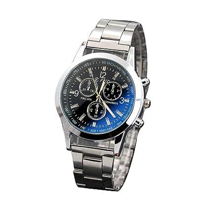 Montre Verre En Bleu Oeillets Bracelet 3 Homme Trifycore nwk80PO