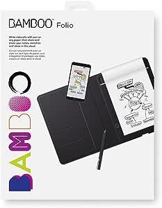 Wacom Bamboo Folio Smartpad Digital Notebook, Small (A5/Half Letter Size), CDS610G