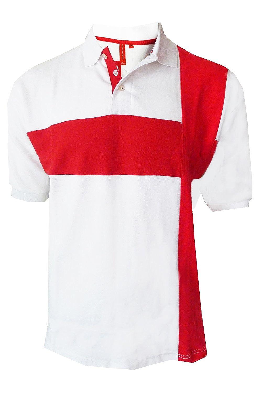 Adultos Polo Bandera Inglaterra Vintage Retro San Jorge Fútbol Cruz Camiseta Top: Amazon.es: Ropa y accesorios