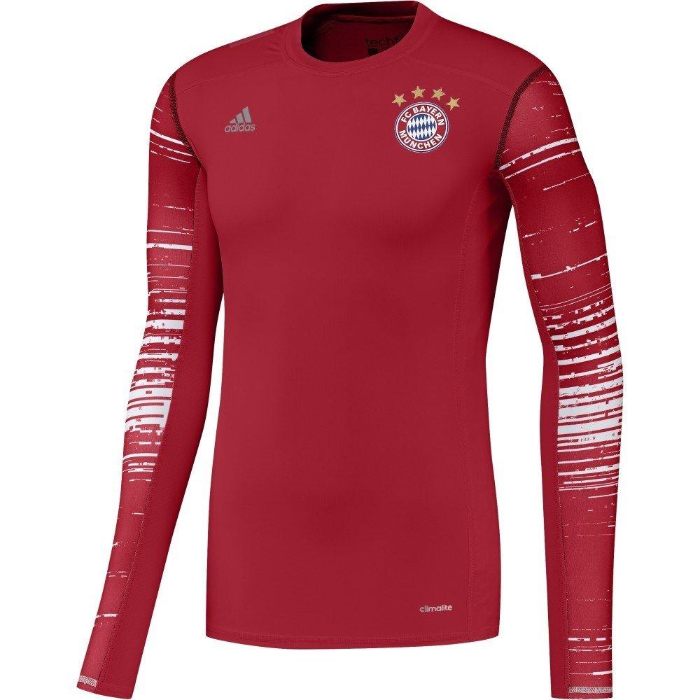 Adidas Herren AY8675 Bayern Munchen Techfit Long Sleeve Tee Jersey (ROT) Gr XXL
