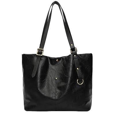 b3d04243b343 KIMODO women s Bag Handbag Backpack Fashion Retro Soft Leather Shoulder Bag  Tote Bag