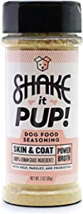 Shake it Pup! Dog Food Seasoning - Bone & Joint, Digestion, Skin & Coat Supplement Topper Support Powder Gravy - Bone Broth, Turmeric, Kelp, Probiotics - 100% Human-Grade & Grain-Free