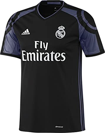 00fd06ef50a Amazon.com   adidas Kids Real Madrid 16 17 Third Black Jersey   Clothing