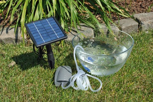 Solarrific g3035 solar air pump for fish pond import it all for Garden pond grills