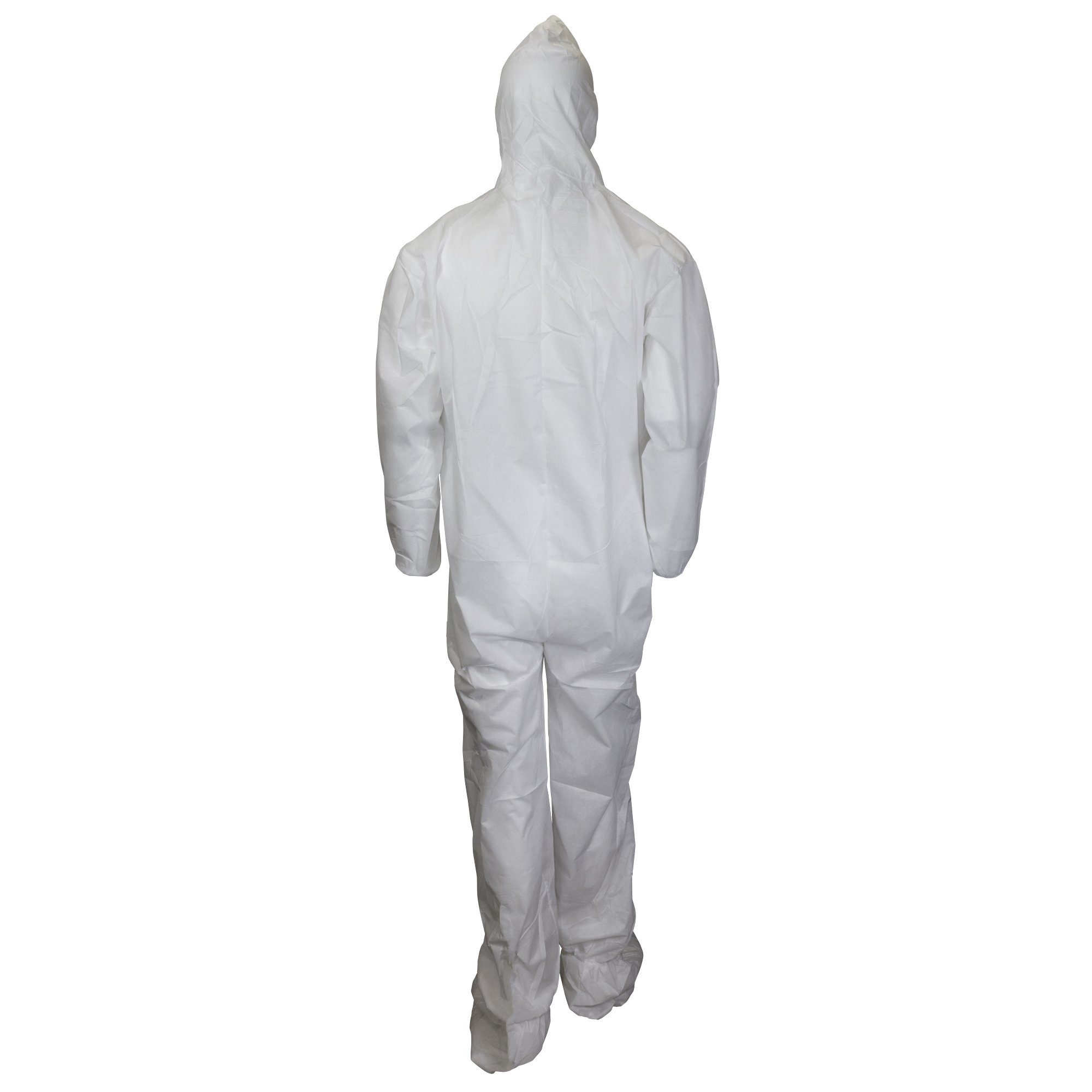 Kleenguard A10 Light Duty Coveralls (10631), Zip Front, Elastic Wrists, Hood, Boots, Breathable Material, White, 2XL, 25 / Case by Kimberly-Clark Professional (Image #3)