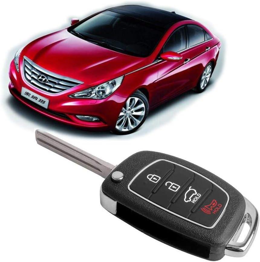 VOFONO Keyless Entry Remote Key Fob Compatible with 2014 2015 2016 2017 Hyundai Sonata FCC ID: TQ8-RKE-4F16 / P/N: 95430-C1010