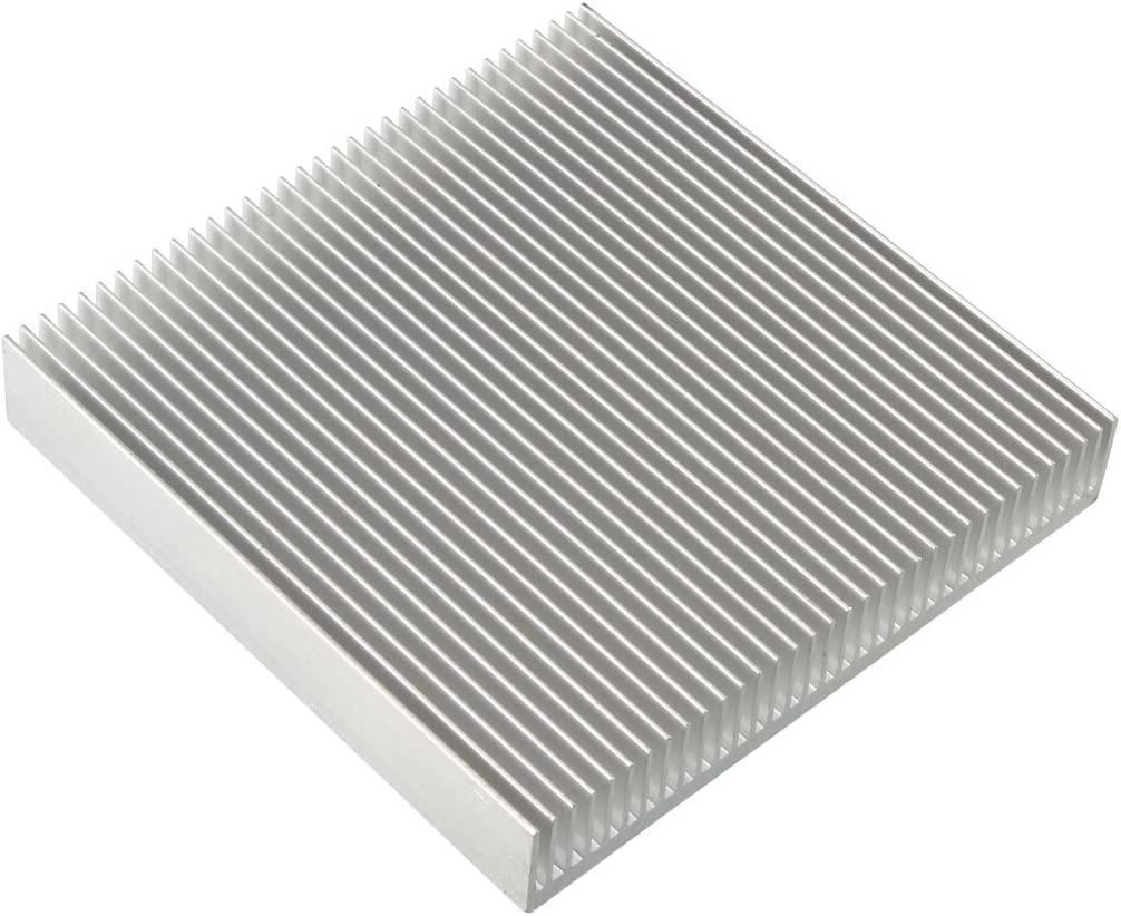 uxcell Aluminum Heatsink Cooler Circuit Board Cooling Fin Silver Tone 90mmx90mmx15mm for LED Semiconductor Integrated Circuit Device
