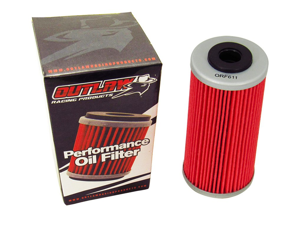 Outlaw Racing ORF611 Lot of 4 Performance Oil Filter BMW G450X HUSQVARNA SMR511 Offroad Motorcycles Replaces KN611 Outlaw Racing Products