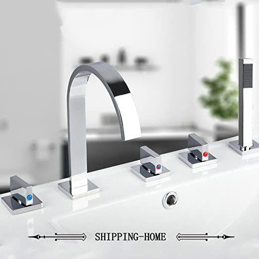 CZOOR Messing verchromt Badezimmer Armaturen Wasserfall 5 ...